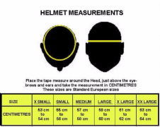 HELMET MEASURING GUIDE